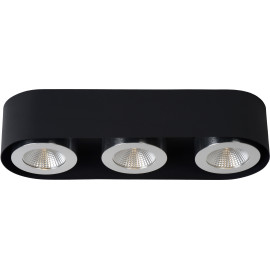 Plafonnier moderne en aluminium noir 3 LED Nahïa