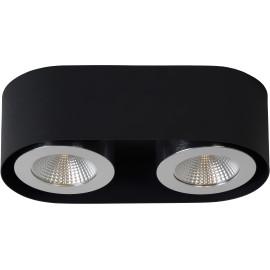 Plafonnier moderne en aluminium noir 2 LED Nahïa