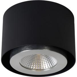 Plafonnier moderne en aluminium noir LED Nahïa