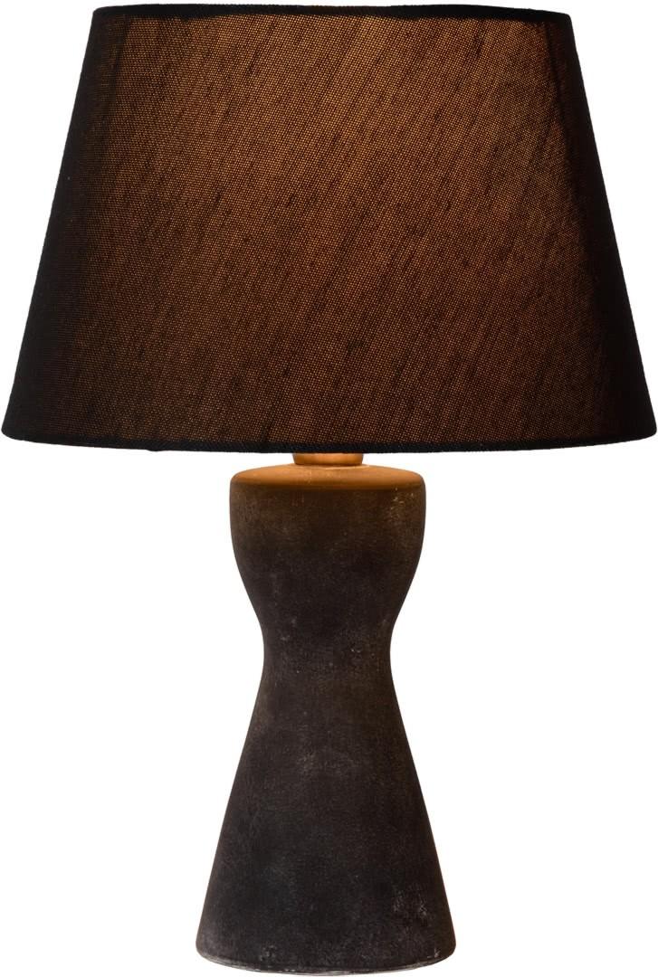 En Lois Tissu Rustique Et À Céramique Poser Lampe Noir doBCxe