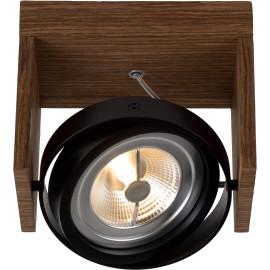 Spot design orientable led 1 spot en bois foncé Milor