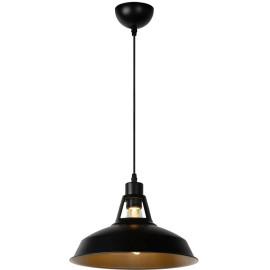 Suspension industrielle en métal noir Ø31 cm Odile