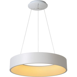 Suspension moderne métal blanc LED Ø60 cm Oli