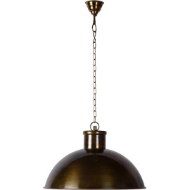 Suspension industrielle acier bronzé Ø50 cm Olga