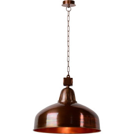 Suspension style industriel métal cuivré Ø50 cm Odon