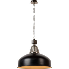 Suspension style industriel métal noir Ø50 cm Odon