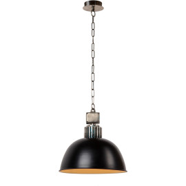 Suspension style industriel métal noir Ø35 cm Odon
