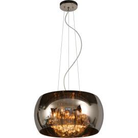 Suspension moderne en métal chromé et verre Ø40 cm Ocelia