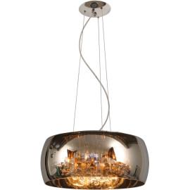 Suspension moderne en métal chromé et verre Ø50 cm Ocelia