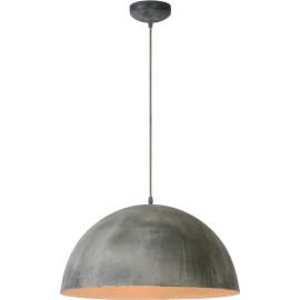 Suspension industrielle en métal gris Ø50 cm Pablo