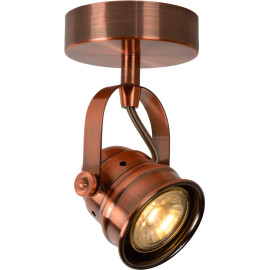 Spot rustique en aluminium cuivré rouge 1 LED Paco