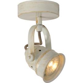 Spot rustique en aluminium blanc antique 1 LED Paco