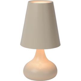Lampe de table moderne en métal crème Anna