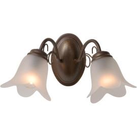 Applique classique en métal rouillé 2 lampes Paola