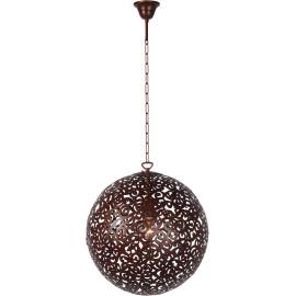 Lustre moderne en métal brun rouillé Ø40 cm Racilia