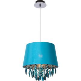Suspension moderrne en métal et acrylique turquoise Ø30 cm Régilia
