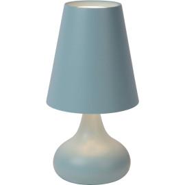 Lampe de table moderne en métal bleu Anna