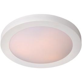 Plafonnier moderne aluminium blanc pour salle de bain Ø35 Sabin