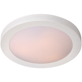 Plafonnier moderne aluminium blanc pour salle de bain Ø41 Sabin