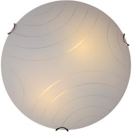 Plafonnier moderne en verre albâtre Ø30 cm Sabas