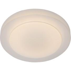 Plafonnier moderne en acrylique opalin LED Ø29 cm Sacha