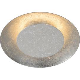 Plafonnier moderne en métal argenté LED Ø21,5 cm Sanz