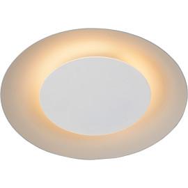 Plafonnier moderne en métal blanc LED Ø21,5 cm Sanz
