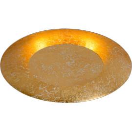 Plafonnier moderne en métal doré LED Ø34,5 cm Sanz