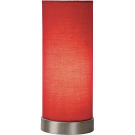 Lampe de table contemporaine en métal et tissu rouge Joss
