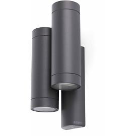 Applique moderne d'extérieur en aluminium gris foncé 4 lampes Teiva