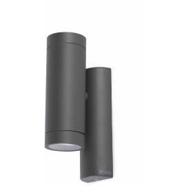 Applique moderne d'extérieur en aluminium gris foncé 2 lampes Teiva
