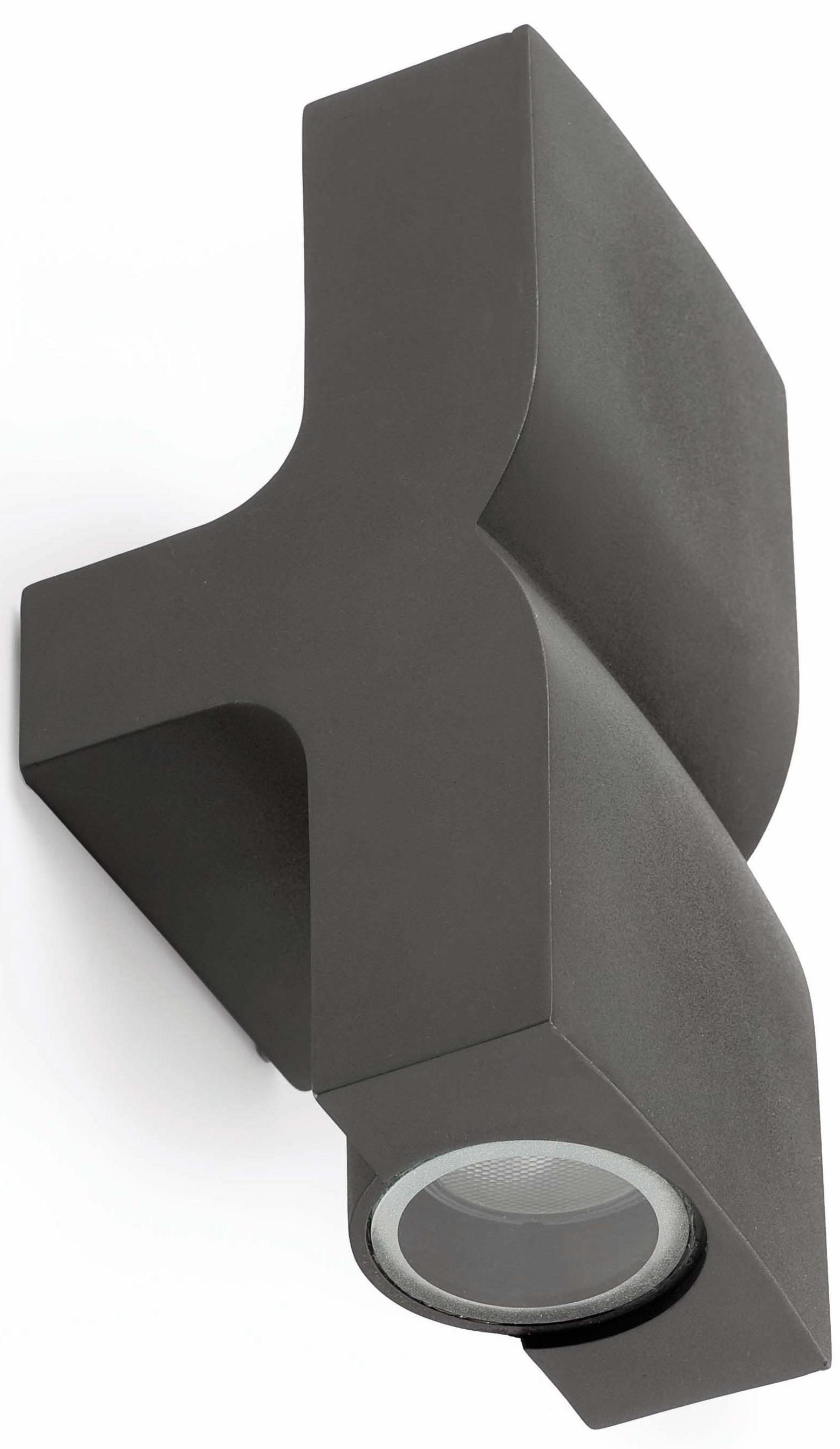 Applique moderne extérieure aluminium gris foncé 2 lampes Thalos