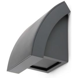 Applique design en aluminium gris foncé Taïs
