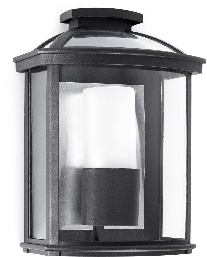 Applique moderne d'extérieur en aluminium noir Tanga