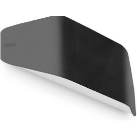 Applique design d'extérieur en polycarbonate noir Talya