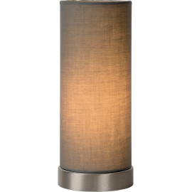 Lampe de table contemporaine en métal et tissu gris Joss