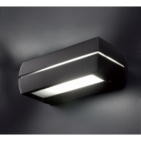 Applique LED moderne extérieure aluminium gris foncé Tao