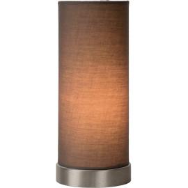 Lampe de table contemporaine en métal et tissu taupe Joss