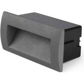 Spot encastrable moderne d'extérieur aluminium gris LED 14x7 cm Ugo