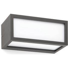 Applique extérieure moderne en aluminium gris 11x25 cm Ursa