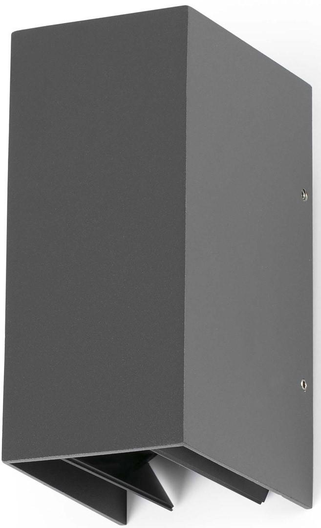 Applique extérieure moderne en aluminium gris LED Ahaïna