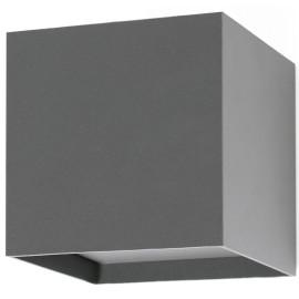 Applique moderne extérieure aluminium gris LED Uhaïna