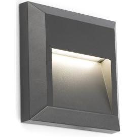 Applique murale moderne carrée extérieure en plastique gris LED Freddy
