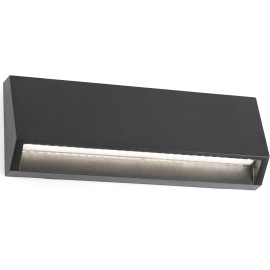 Applique moderne d'extérieur en plastique gris foncé LED Vaast