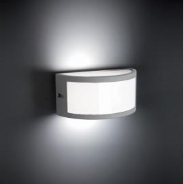 Applique design carrée d'extérieure en aluminium gris Vera