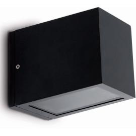 Applique moderne en aluminium gris foncé Vasco