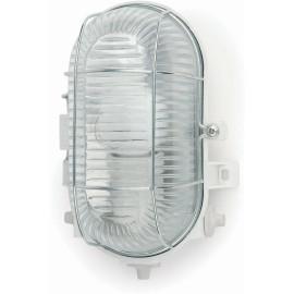 Applique classique d'extérieur en PVC blanc et verre Elina