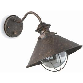 Appliqueclassique d'extérieur en métal brun foncé Vesia