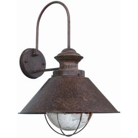 Appliqueclassique d'extérieur en métal brun foncé Vesio