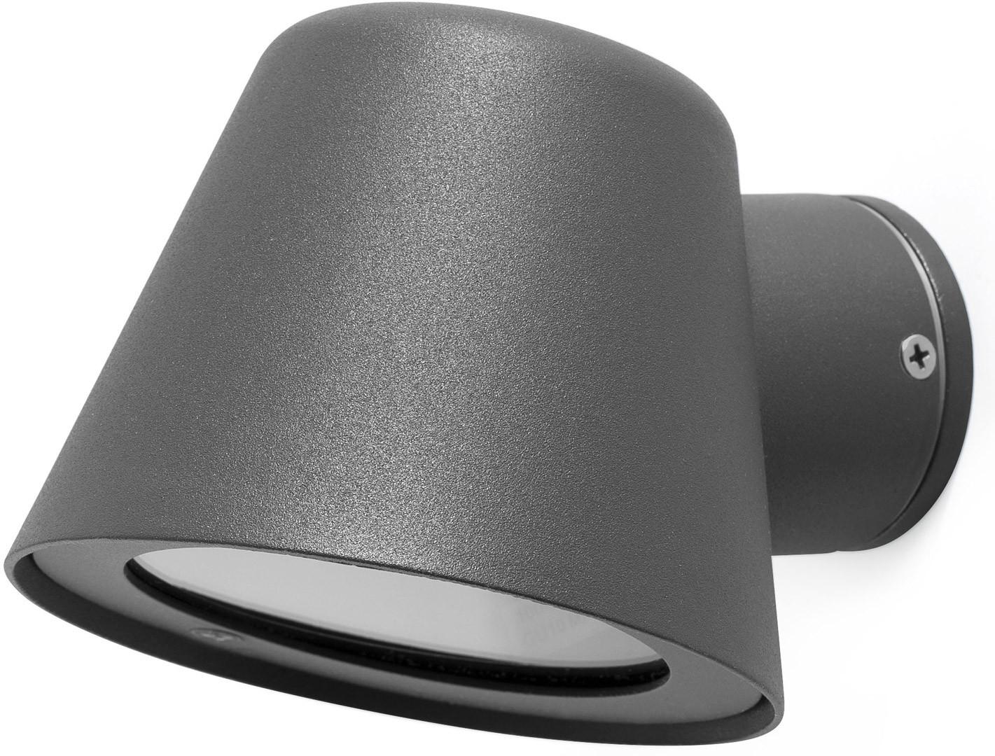 Applique moderne pouréclairage extérieuren aluminium gris foncé Valeria